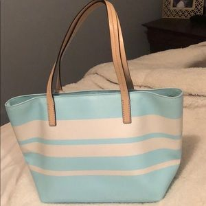 kate spade Bags - Kate spade small blue and white tote